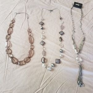 3 womens necklaces